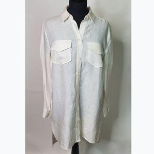 Banana Republic White T-Shirt Dress (Size: 10)